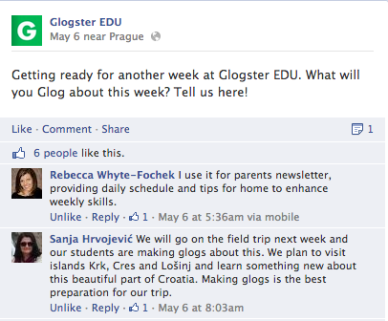 Teachers let us know how they use Glogster EDU in any given week.