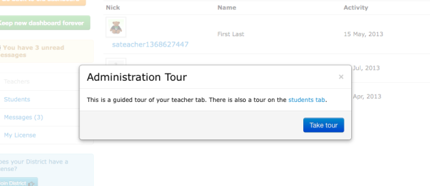 Launch the tour to get an overview of the tools. It only takes a minute!