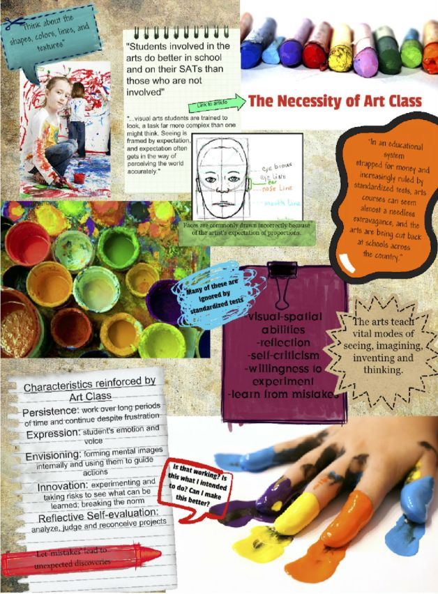This arty glog has a lot of good reasons to involve art in your class.